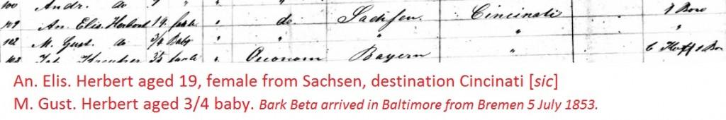 herbert-1853-arrival