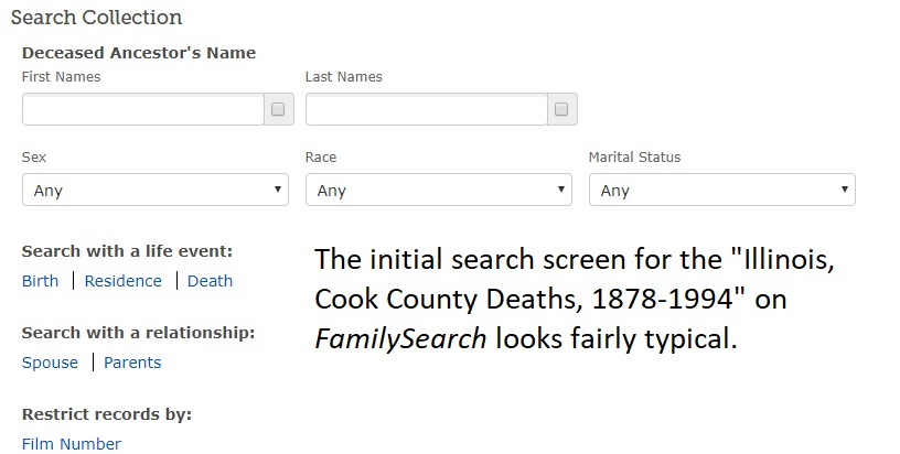 Are There More Search Options to the FamilySearch Database