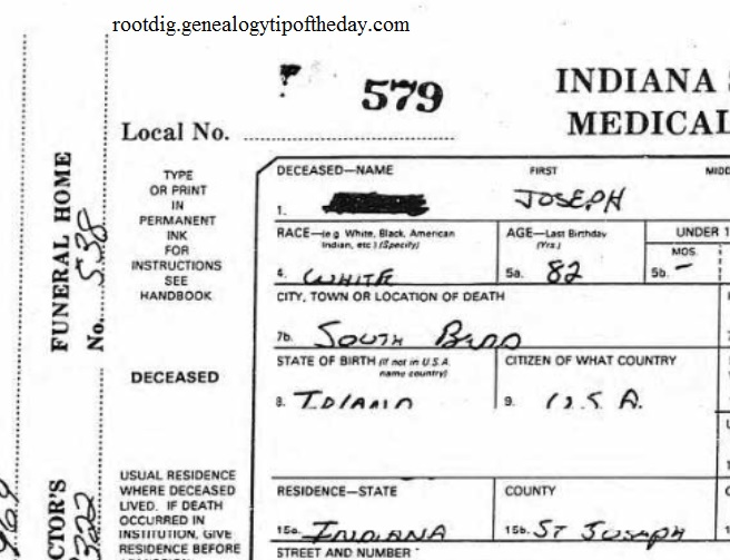 Removing The Social Security Number And More From An Indiana Death